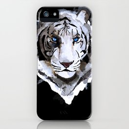 White Tiger with Blue Eyes iPhone Case
