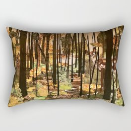 """Hidden in the Trees"" in cut paper Rectangular Pillow"