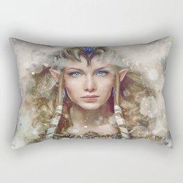 Epic Princess Zelda from Legend of Zelda Painting Rectangular Pillow