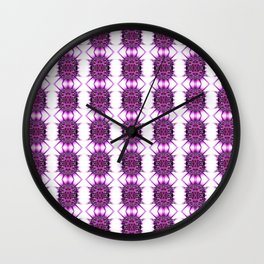 Purple Spiked Repeat Pattern Wall Clock