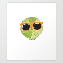 Funny Vegetable Pun Respect Brussel Sprouts print Art Print