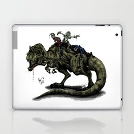 Zombies Riding a Trex Laptop & iPad Skin