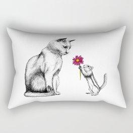 Doting Chipmunk Rectangular Pillow
