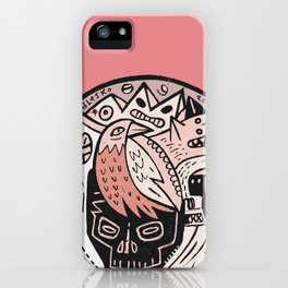 Bubble Head - pink iPhone Case