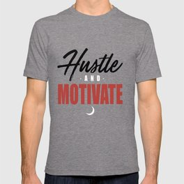 WYD Hustle _ Motivate Tee Grey Black Red NIPSEY HUSSLE VICTORY LAP hustle T-shirt