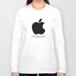 Steve Jobs (1955-2011): Innovation Distinguishes Between A Leader & A Follower Long Sleeve T-shirt
