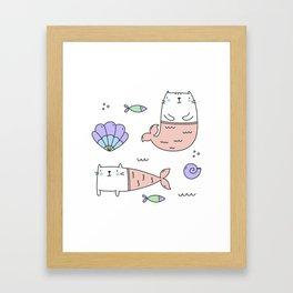 Merkats Coral Framed Art Print
