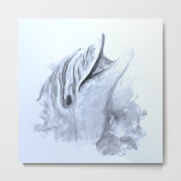 Animals and Art - Dolphin Metal Print