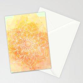 Watercolor Mandala // Sunny Floral Mandala Stationery Cards