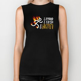 Pyrotechnician Funny Fireworks Gift Hot Pyro Tech Biker Tank