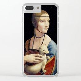 The Lady with an Ermine - Leonardo da Vinci Clear iPhone Case