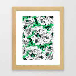 Mount Cook Lily - Green/White Framed Art Print