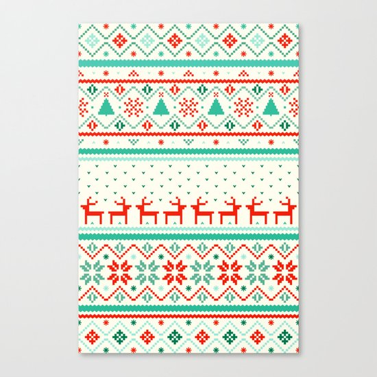 Festive Fair Isle Canvas Print