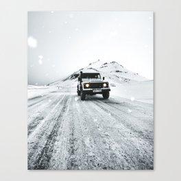 roadtrip in iceland Canvas Print