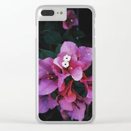 Pink Drizzle Clear iPhone Case