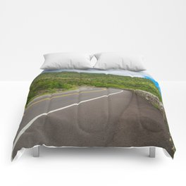 Whiteface Mountain Road Comforters