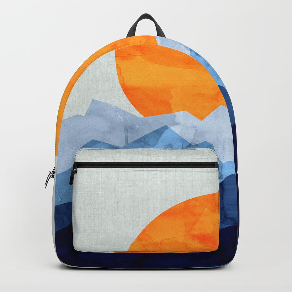 Vibrant Watercolor Landscape Backpack by Original7art BKP7715417