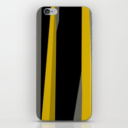 yellow gray and black iPhone Skin