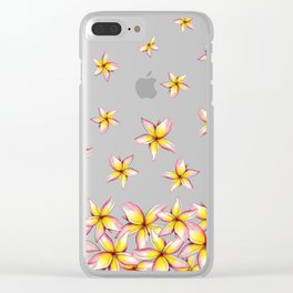 Lillies - Handpainted pattern - white background Clear iPhone Case