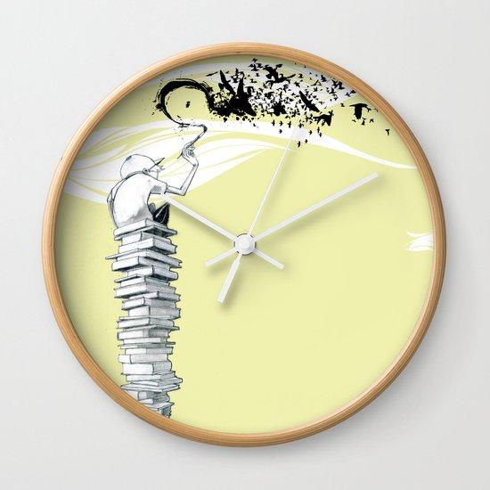 "Glue Network Print Series ""Education & Arts"" Wall Clock"