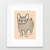 french bulldog Framed Art Prints featuring French Bulldog by Syrupea