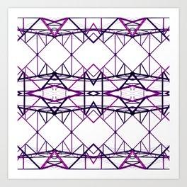 purple iron II Art Print