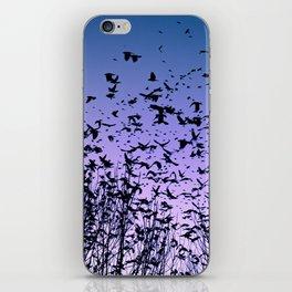 Blue sky birds freedom flight iPhone Skin