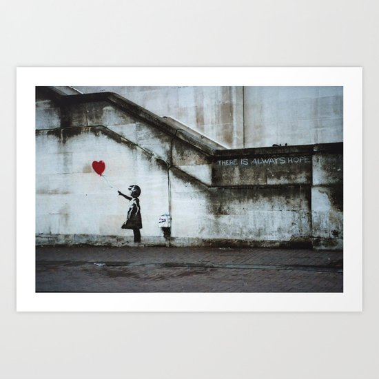 Banksy street art / photograph - girl with red ballon by easyposters
