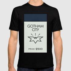 Gotham City Monopoly Location Black MEDIUM Mens Fitted Tee