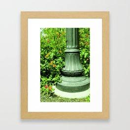 Post and Flowers Framed Art Print