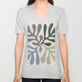 Matisse cutouts abstract drawing, Unisex V-Neck
