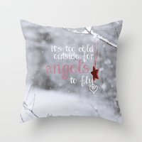 angels Throw Pillows featuring Angels by SUNLIGHT STUDIOS  Monika Strigel