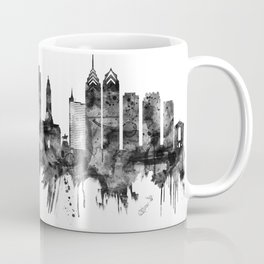 Philadelphia Pennsylvania Skyline BW Coffee Mug
