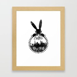 New York Happy Easter Framed Art Print