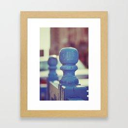 The Blue Bench Framed Art Print