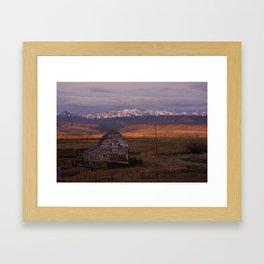Morning under the Bridgers Framed Art Print