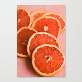 Grapefruit on Pink Canvas Print