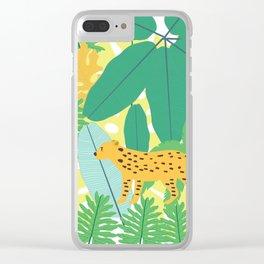 Jungle Love Clear iPhone Case