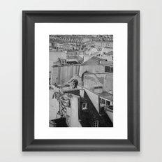 Paris Rooftops Framed Art Print
