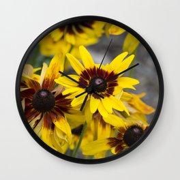 Brown Eyed Susans Wall Clock