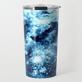 Ice Blue Galaxy Star Clusters Travel Mug