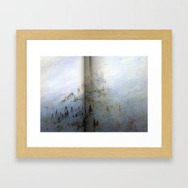 Paysage de montagne dans la brume  Huile sur toile (1808) 71x104 cm  Rudolstadt, by Caspar David Fri Framed Art Print