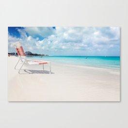 Beach chair in Grace Bay Canvas Print