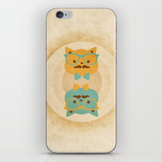 Vintage cats iPhone & iPod Skin