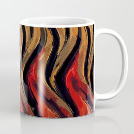 Flames, Abstract Art by Tito Coffee Mug