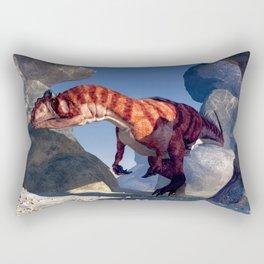 Allosaurus Canyon Rectangular Pillow