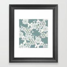 Papercut snowdrops Framed Art Print