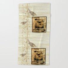Bird On Screen Beach Towel