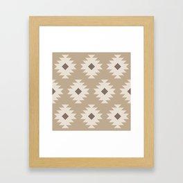 Southwestern Pattern 525 Beige Framed Art Print