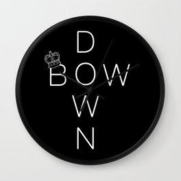 Bow Down Wall Clock
